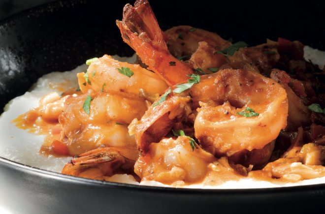 Smothered Shrimp and Crabmeat Pan Gravy